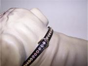 Beverly Vinyl Dog Collar 12in Black 462P