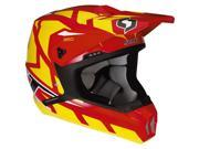Scott 350 Tread Adult Motocross/Off-Road/Dirt Bike Motorcycle Helmet - Red/Yellow / Medium