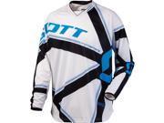 Scott 350 Grid Locke Men's Off-Road/Dirt Bike Motorcycle Jersey - White/Black / Small