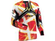 Thor MX Flux Fiber Men's MX Motorcycle Jersey - Red / X-Large