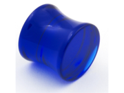 """One Acrylic Double Flared Plug: 1 inch g 1/2"""" Blue (SOLD INDIVIDUALLY. ORDER TWO FOR A PAIR.)"""