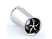 "One Stainless Steel Double Flared Nautical Star Eyelet: 2g 3/8"" (SOLD INDIVIDUALLY. ORDER TWO FOR A PAIR.)"