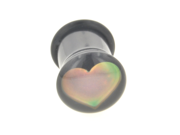One Acrylic Single Flared Mood Plug: 2g Heart (SOLD INDIVIDUALLY. ORDER TWO FOR A PAIR.)