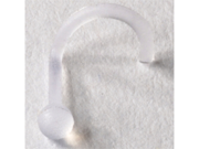 Acrylic Nostril Screw Retainer: 18 gauge