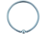 "One PVD Stainless Steel Large Diameter Captive Bead Ring: 8g 2"", Light Blue (SOLD INDIVIDUALLY. ORDER TWO FOR A PAIR.)"