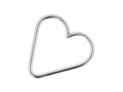 """Stainless Steel Continuous Heart Shaped Ring: 20g 7/16"""""""
