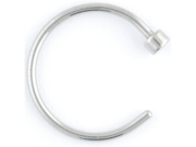 """One Stainless Steel Nose Hoop: 20g 3/8"""""""
