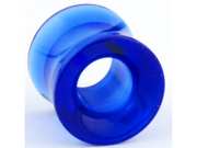 One Acrylic Double Flared Eyelet: 8g Blue (SOLD INDIVIDUALLY. ORDER TWO FOR A PAIR.)