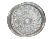 "One Stainless Steel Double Flared Eyelet with Spiral Cut Gem: 1/2"" (SOLD INDIVIDUALLY. ORDER TWO FOR A PAIR.)"