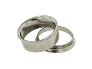 "One Stainless Steel Double Flared Threaded Flesh Tunnel: 1"" (SOLD INDIVIDUALLY. ORDER TWO FOR A PAIR.)"
