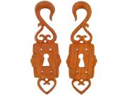 Pair of Sabo Wood Lock Boxes: 4g