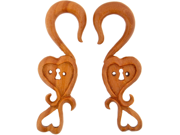 Pair of Sabo Wood Key to My Heart: 4g