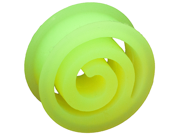 "One Silicone Double Flared Spiral Eyelet: 1"" Green (SOLD INDIVIDUALLY. ORDER TWO FOR A PAIR.)"