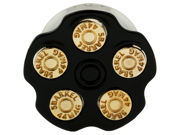 """One Stainless Steel Double Flared Black Spinning Bullet Chamber Plug: 3/4"""" (SOLD INDIVIDUALLY. ORDER TWO FOR A PAIR.)"""