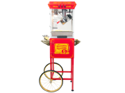 FunTime 8oz Red Popcorn Popper Machine Maker Cart Vintage Style- FT862CR