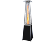 Garden Radiance Black w/ Stainless Steel Pyramid Outdoor Patio Heater GRP4000BK