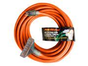 Century Contractor Grade 50' 12 Gauge Power Extension Cord 12/3 Triple Tap Plug