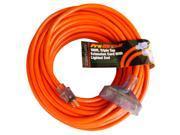 Century Contractor Grade 100' 12 Gauge Power Extension Cord 12/3 Triple Tap Plug