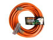 Century Contractor Grade 50' 10 Gauge Power Extension Cord 10/3 Triple Tap Plug