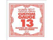 Ernie Ball Single String, .013, Plain Steel