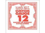 Ernie Ball Single .012 Plain Steel String