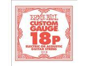 Ernie Ball Single Plain Steel String, .018