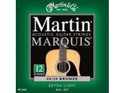 Martin Marquis 80/20 Bronze 12-String Acoustic Strings. Extra Light