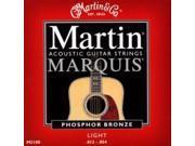 Martin Marquis Phosphor Bronze Acoustic Strings, Light