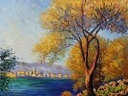 Monet Paintings: Antibes, View of Salis - Hand Painted Canvas Art