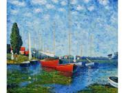 Monet Paintings: Red Boats at Argenteuil - Hand Painted Canvas Art