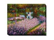 Monet Paintings: Artist's Garden at Giverny Gallery Wrap - Hand Painted Canvas Art