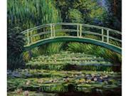 Monet Paintings: Japanese Bridge - Hand Painted Canvas Art