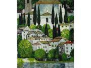 Klimt Paintings: Church in Cassone - Hand Painted Canvas Art