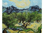 Van Gogh Paintings: Olive Trees with the Alpilles in the Background - Hand Painted Canvas Art