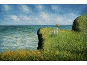 Monet Paintings: Cliff Walk at Pourville - Hand Painted Canvas Art