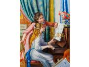 Renoir Paintings: Young Girls at the Piano - Hand Painted Canvas Art