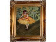 Degas Paintings: Dancer Making Points Pre-Framed - Hand Painted Canvas Art