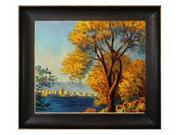 """Art Reproduction Oil Painting - Monet Paintings: Antibes, View of Salis with Veine D' Or Bronze Scoop - Bronze and Rich Brown Finish - 26.5"""" X 30.5"""" - Hand Painted Framed Canvas Art"""