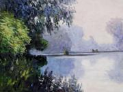 Monet Paintings: Morning on the Seine near Giverny - Hand Painted Canvas Art