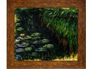 Monet Paintings: Water Lilies Pre Framed - Hand Painted Canvas Art