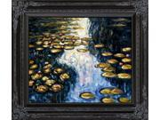 Water Lily Pond - Hand Painted Canvas Art