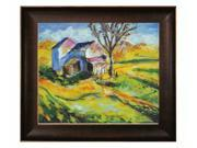 """Art Reproduction Oil Painting - House in a Landscape with Veine D' Or Bronze Scoop - Bronze and Rich Brown Finish - 26.5"""" X 30.5"""" - Hand Painted Framed Canvas Art"""