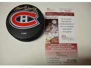 """Maurice Richard Autographed Puck - with """"rocket"""" Inscription - -Item #2956113"""