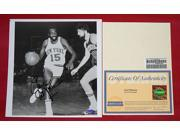Earl Monroe Signed Photo - 8x10 Bw The Pearl - Steiner Sports -Item #2954821