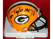 Jim Taylor Signed Mini Helmet - Hof 76 - JSA Certified -Item #2954519