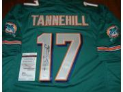 Signed Ryan Tannehill Jersey - #17 Aqua + JSA Witness COA -Item #3240742