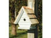 Heartwood Chick Birdhouse, Whitewashed