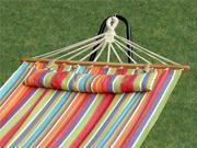 Bliss Hammocks Oversized Hammock w/ Spreader Bars & Pillow, Tropical Fruit