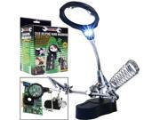 Trademark Tools Helping Hand Magnifier w/ 2 LEDs