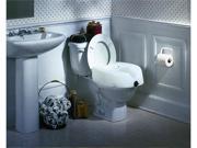 Clamp-On Raised Toilet Seat